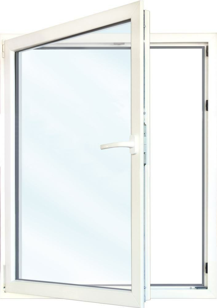 Meeth Fenster, weiß, 900 x 1000 mm, DIN links - System 70 3S Euronorm, 1-flg ...