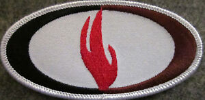 4-INCHES-FLAME-4-034-W-ED-PARKER-KENPO-MARTIAL-ARTS-PATCH-NEW