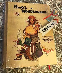 Alice-in-Wonderland-1911-First-Mabel-Lucie-Attwell-Edition-Lewis-Carroll-w-Bonus