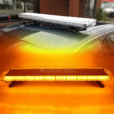 "88 LED 47"" Emergency Strobe Light Bar Amber Car Tow Truck Flashing 12V-24V 120cm"