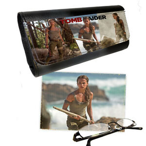 Details about Lara Croft Tomb Raider, Glasses PictaLetather Case & Lens  Cleaning Cloth