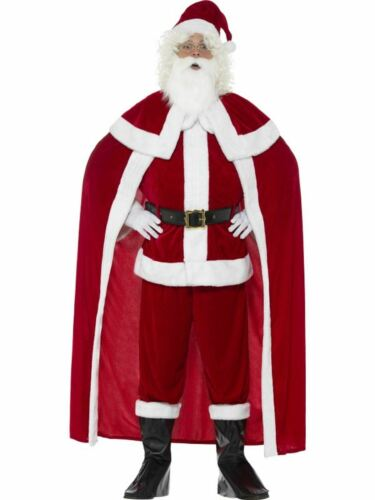 Deluxe Santa Claus Men/'s Fancy Dress Costume