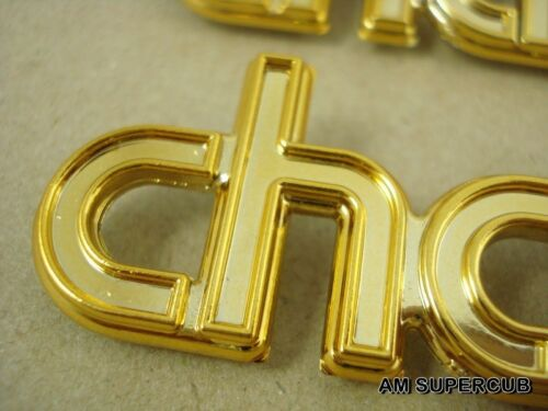 Gold HONDA CHALY 50 70 CF50 CF70 FRAME EMBLEM A pair