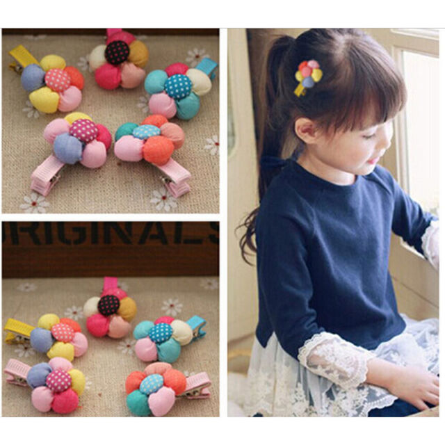 5pcs Baby Infant Girls Children Flower Hair Pin Clips Hairpin Accessories、Fad FO