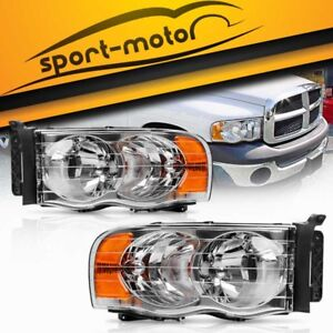 Image Is Loading Pair Front Headlight Embly Kit For 2002 2005