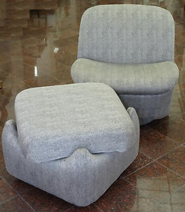 Image Is Loading Swivel Slipper Lounge Club Chair Ottoman By Directional