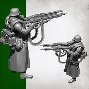 1-35-Deutscher-Super-Double-Gun-Resin-Soldat