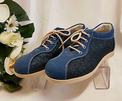 KINDER Mädchen Frauen SCHUHE Sneaker Made Italy Blau 6060 55EUR Gr 31