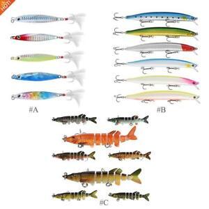 New-Minnow-Fishing-Lures-Crank-Bait-Hooks-Bass-Crankbaits-Tackle-Sinking-Popper