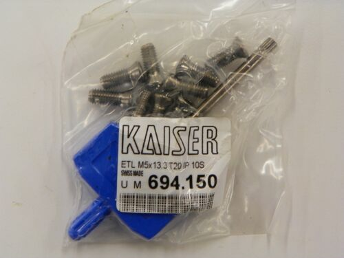 10 PIECE BAG M5 x 13.3 KAISER SCREWS #694.150 WITH T20P WING WRENCH   D111