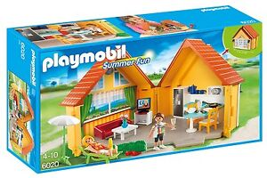 Playmobil-6020-Summer-Fun-Country-House-Ages-4-New-Toy-Kitchen-TV-Chairs-Patio