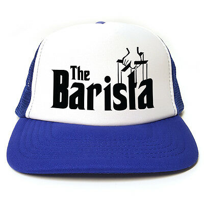 Funny Retro Trucker Cap Snapback 3 Colours Godfather Spoof The Barista