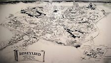1954 Disneyland Map (Concept) REPRODUCTION POSTER 24 X 36 Inches Nostalgia