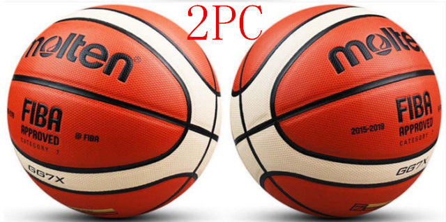 2PC Molten GG7X 7 PU men's&basketball in outdoor basketball training w  Bag Pin!