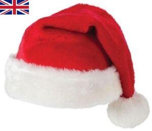 68ad013c5681a Unisexe Père Noël Chapeau Famille Cadeau pour Adulte Enfant Bébé Lot ...