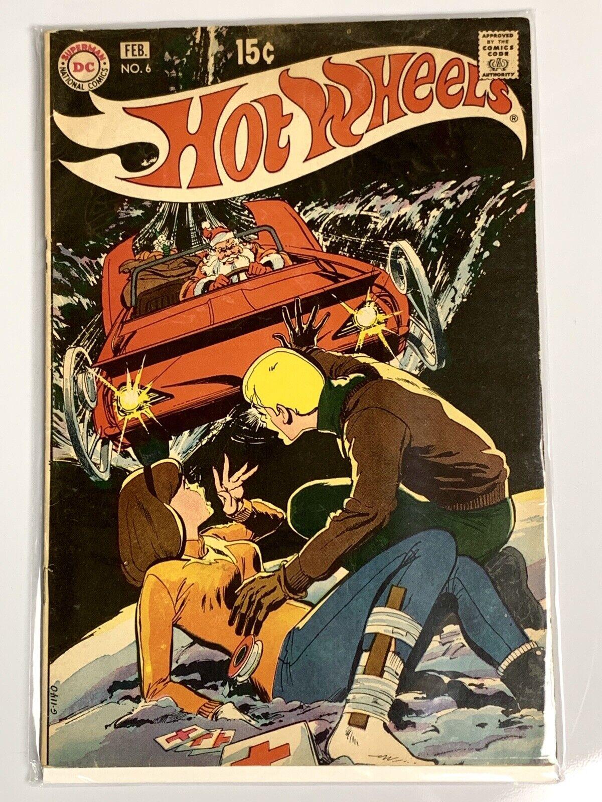 el estilo clásico Hot Wheels rojoline 1970 COMIC COMIC COMIC BOOK Nº 6 DC Comics Cubierta De Santa  distribución global