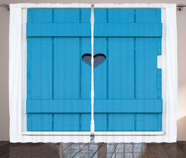 Retro Country Curtains 2 Panel Set Decor 5 Größes Größes Größes Available Window Drapes a19592