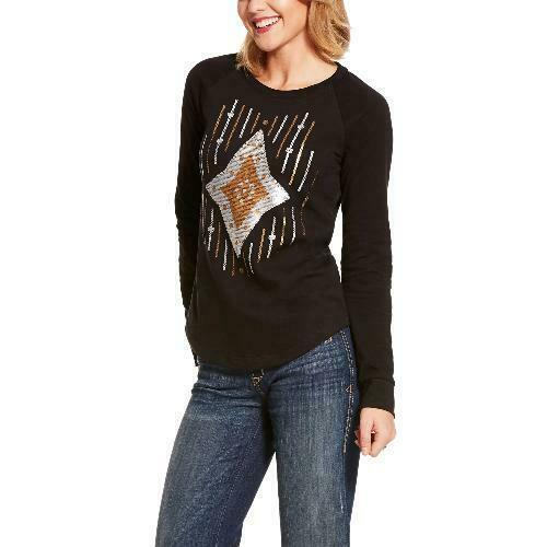 Ariat Ladies Ace of Diamonds Longsleeve Shirt CLOSEOUT