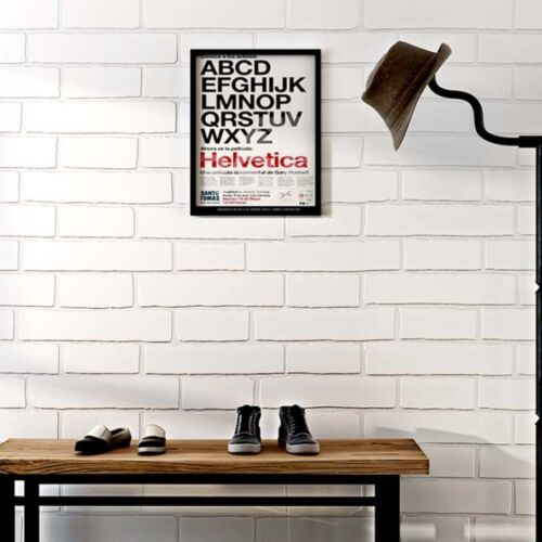 Modern 3D White Brick Stone Style Self Adhesive Peel and STICK WALLPAPER Living