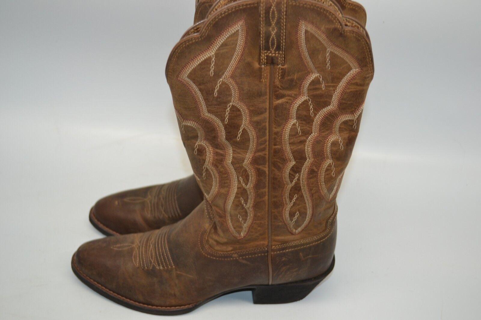 Ariat damen 6.5 B Heritage R Toe Toe Toe Cowboy Western Stiefel Distressed braun 10020289 008a5b
