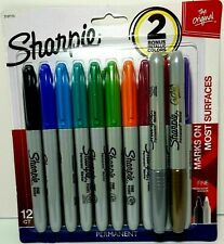 Sharpie Fine Point Permanent Markers 12 Ct Assorted Bold Amp Metallic Color New
