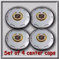 Set 4 Chrome/gold 2011-2012 Cadillac Escalade 22 Center Caps Replica Hubcaps