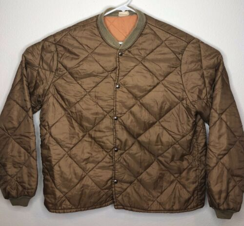 vintage mens Two Piece quilted hunting suit lining
