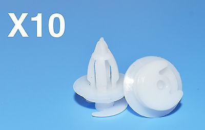 10PCS CITROEN WHITE PLASTIC DOOR CARD TRIM PANEL CLIPS