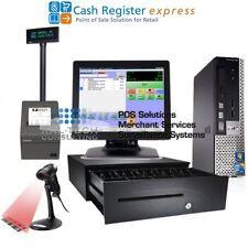 pcAmerica POS System CRE Cash Register Express PRO POS Retail Intel I3/4GB RAM