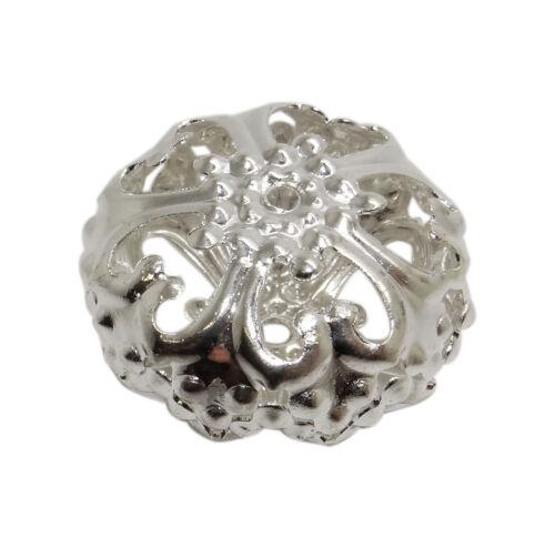 4 perles entretoises filigrane 23 mm en métal argenté,fimo,bijoud-prm14