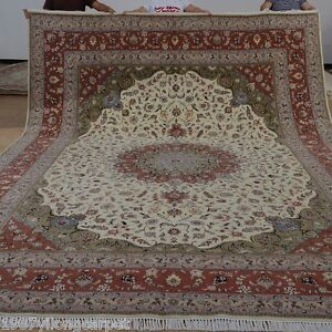 Yilong 10 X14 Extra Large Wool Silk Area Rug Contemporary Carpets