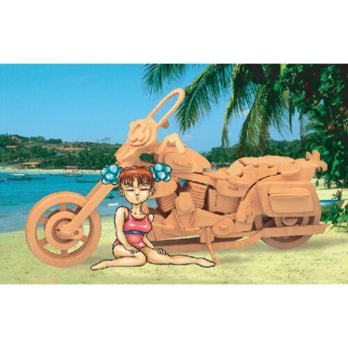 Holzbausatz Motorrad Harley Davidson 3D Puzzle
