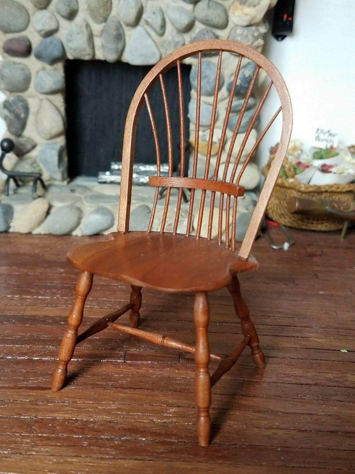 Dollhouse Miniature Artisan William Bill Clinger Windsor Chair 1 12 A A