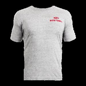 Men/'s Official Biosteel Grey Crewneck T-Shirt Tri-Blend Gym Sports T-Shirt