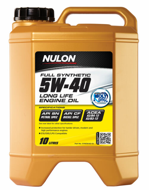 Nulon Full Synthetic Long Life Engine Oil 5W-40 10L SYN5W40-10 fits Toyota Su...