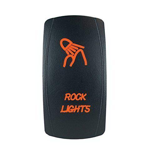 Laser ROCK LIGHTS Rocker Switch ON-OFF led Light 20A 12V 5pin ORANGE