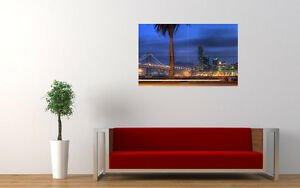 """San Francisco Night View New Large Art Print Poster Picture Wall 33.1""""x20.7"""" To Be Highly Praised And Appreciated By The Consuming Public Art"""