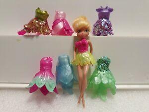 Disney Tinker Bell Polly Pocket 6 dresses Toy Lot Toy Bundle
