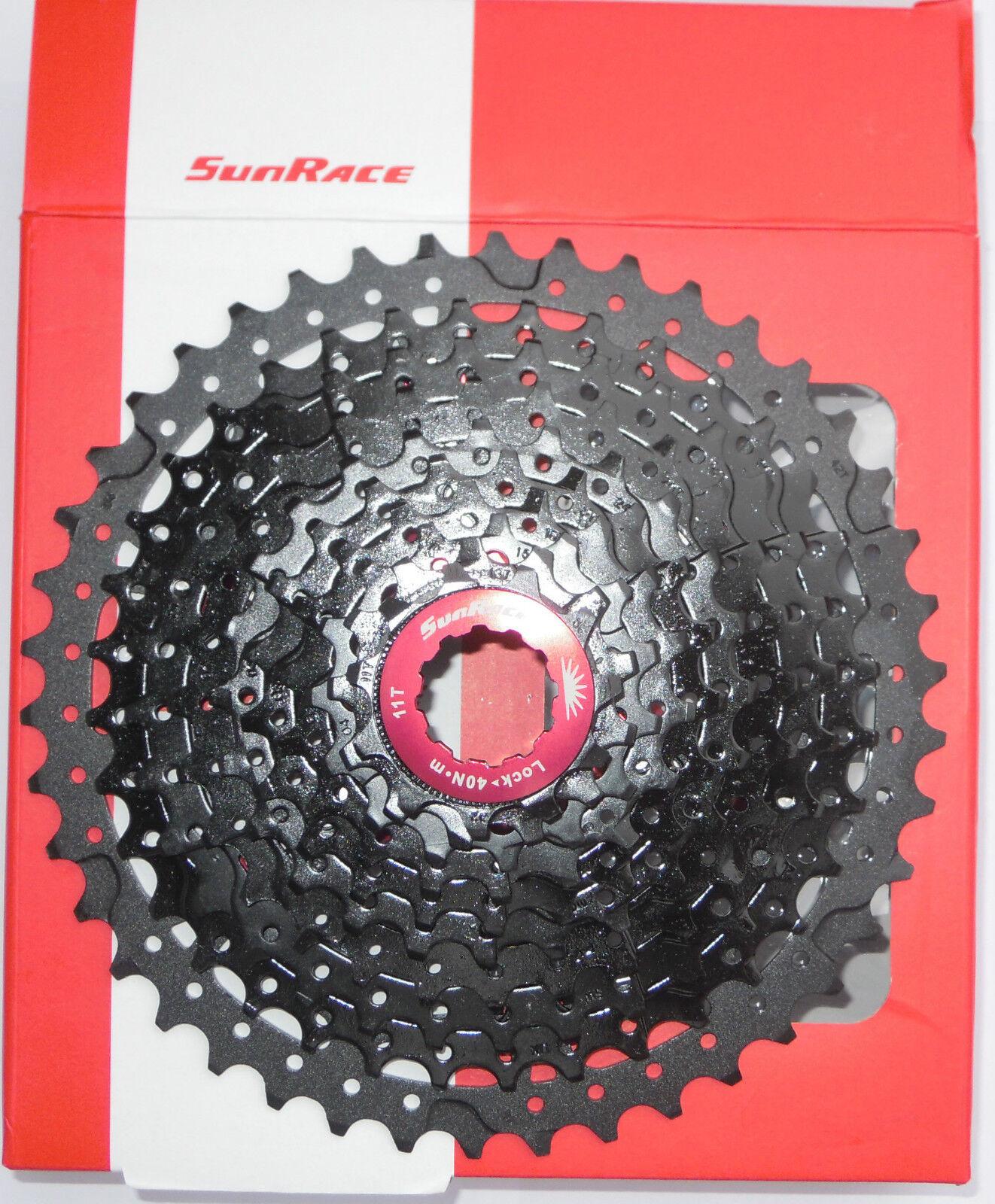 SunRace - Kassette Aluminium MX3 MX3 MX3 11-42T 11-46T schwarz rot schwarz rot 10s b 33c24c