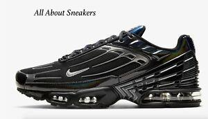 Nike-Air-Max-Plus-3-034-NERO-NERO-BIANCO-034-Uomo-Scarpe-da-ginnastica-LIMITED-STOCK-Tutte-le-Taglie