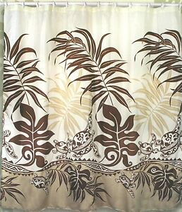 Details About Turtle Hawaiian Fabric Shower Curtain Animal Print Arts Crafts Mission Hawaii