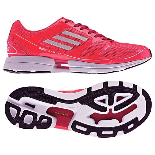NIBAdidas ADIZERO FEATHER Running Turbo response Trainer shoes tennis Womens 9