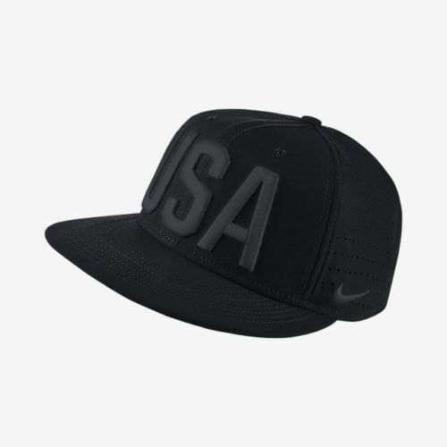 Nike Team USA Perforated Snapback Hat Black Adjustable 822258 010 for sale  online  faa63c940ce