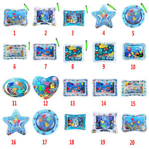 Baby-Wasser-Wasserkissen-Spielmatte-Aufblasbare-Spielzeug-Bauch-Zeit-Seewelt