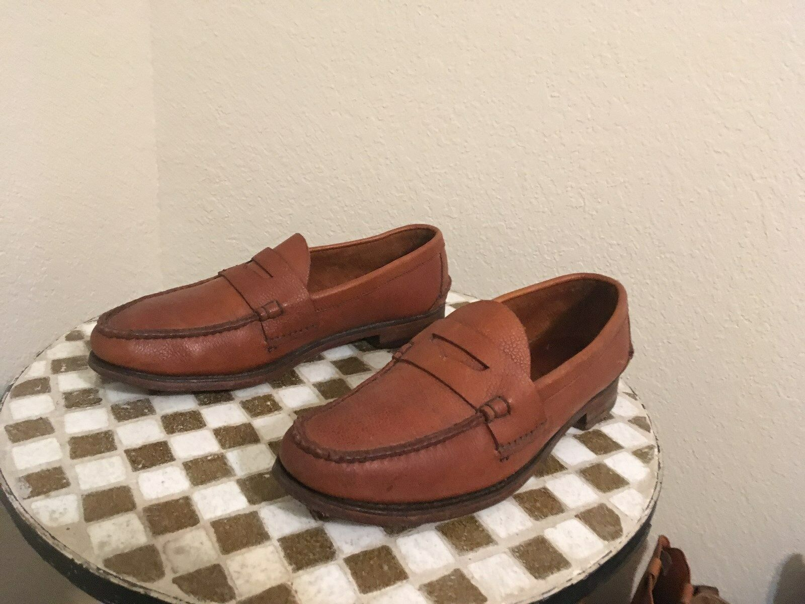 VINTAGE POLO RALPH LAUREN BROWN SLIP ON DRIVING PENNY LOAFER SHOES 9.5 M