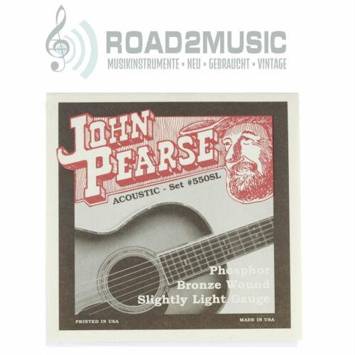 John Pearse 550SL Akustik Gitarrensaiten Phosphor Bronze Light 11-50