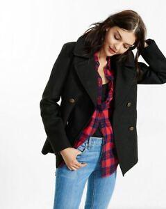 Frakke Størrelse Peacoat New Black Small S Women's Jacket Piped Express pqYvg