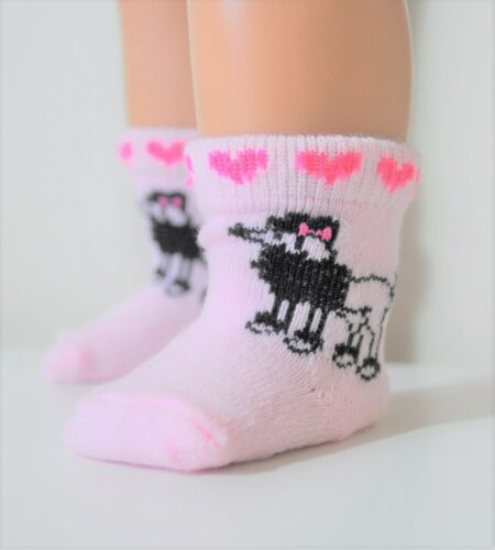 """18/"""" Doll Clothes Pink Poodle Socks Fits American Girl Dolls Our Generation Doll"""