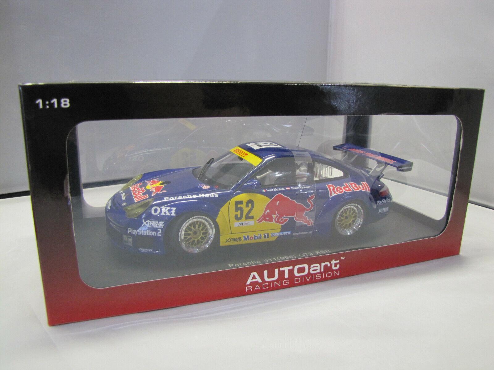 80473 Autoart Porsche 911 gt3 RSR (996) MONZA 2004 RED BULL N. 52 - 1:18