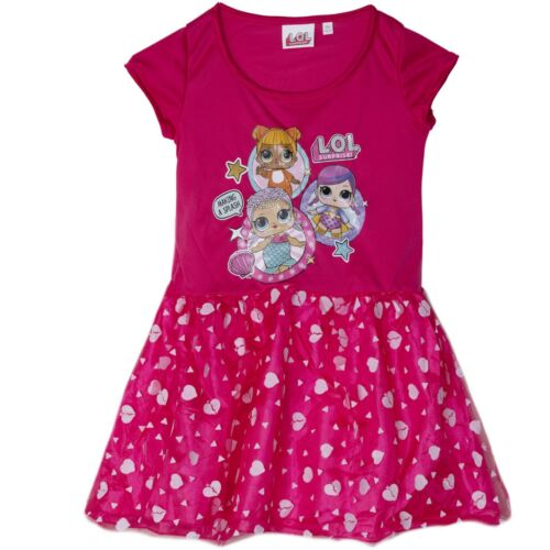 Surprise L.O.L lol Girls Dress Party Fancy Costume Tunic with Tulle 3-6 Years